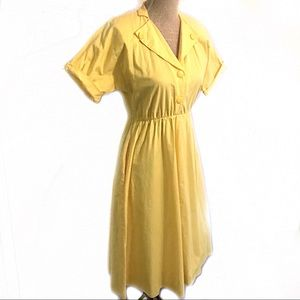 Adorable vintage yellow sun dress
